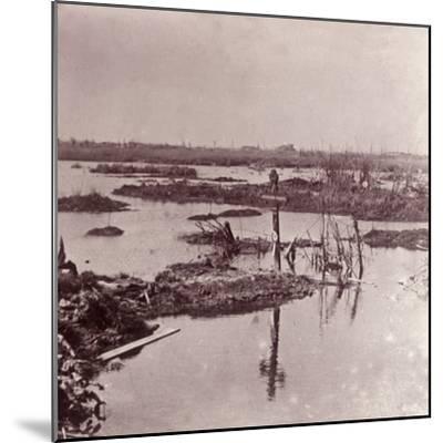Flooding, Flanders, Belgium, c1914-c1918-Unknown-Mounted Photographic Print