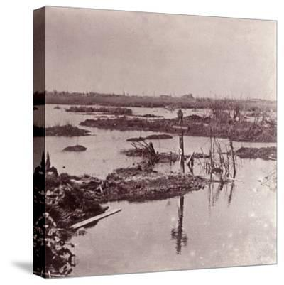 Flooding, Flanders, Belgium, c1914-c1918-Unknown-Stretched Canvas Print