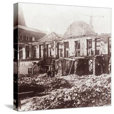 Ruins, Louvain, Belgium, c1914-c1918-Unknown-Stretched Canvas Print