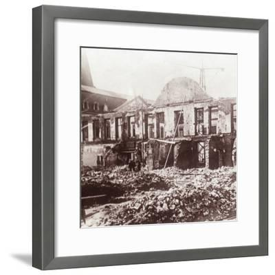 Ruins, Louvain, Belgium, c1914-c1918-Unknown-Framed Photographic Print