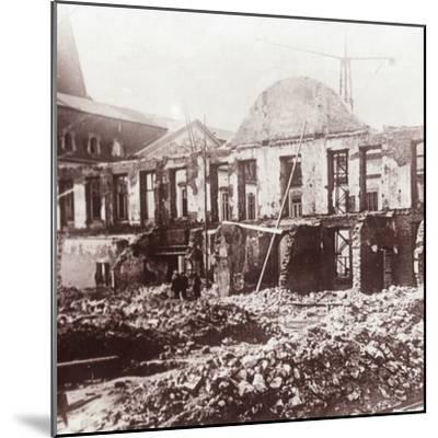 Ruins, Louvain, Belgium, c1914-c1918-Unknown-Mounted Photographic Print