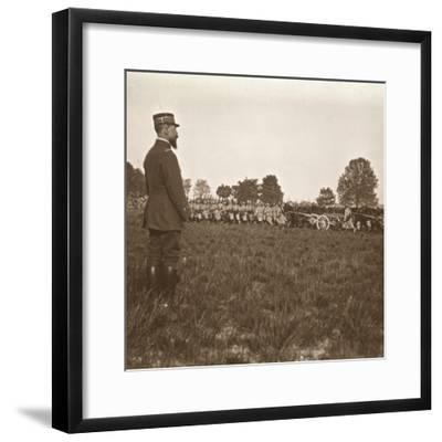 General Henri Gouraud, Champagne, northern France, c1914-c1918-Unknown-Framed Photographic Print