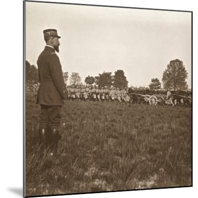General Henri Gouraud, Champagne, northern France, c1914-c1918-Unknown-Mounted Photographic Print