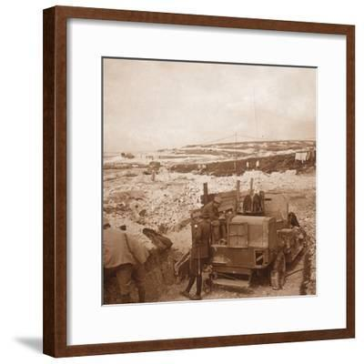 Winch for barrage balloon, Genicourt, northern France, c1914-c1918-Unknown-Framed Photographic Print
