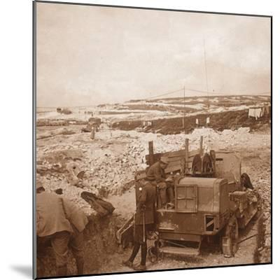 Winch for barrage balloon, Genicourt, northern France, c1914-c1918-Unknown-Mounted Photographic Print