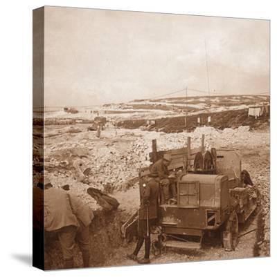 Winch for barrage balloon, Genicourt, northern France, c1914-c1918-Unknown-Stretched Canvas Print