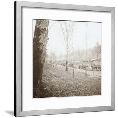 Artillery, Somme, northern France, c1914-c1918-Unknown-Framed Photographic Print