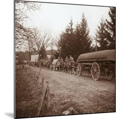Transporting pontoons, Somme, northern France, c1914-c1918-Unknown-Mounted Photographic Print