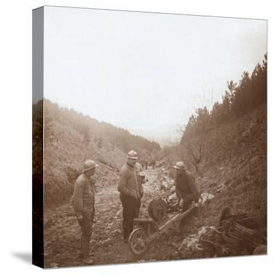 Telegraphists, Somme, northern France, c1914-c1918-Unknown-Stretched Canvas Print