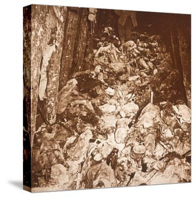 Bodies in tunnels under Mount Cornillet, Champagne, northern France, c1917-Unknown-Stretched Canvas Print