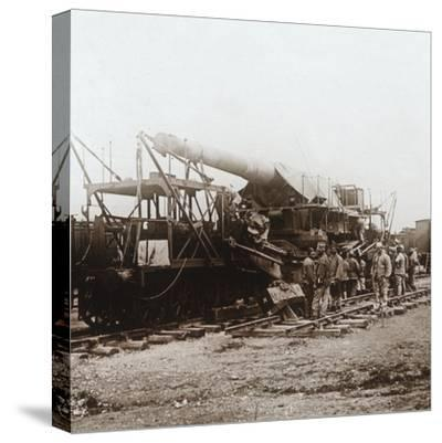 African troops and heavy artillery, Champagne, northern France, c1914-c1918-Unknown-Stretched Canvas Print