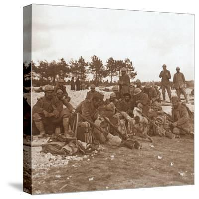 Rest stop, Champagne, northern France, c1914-c1918-Unknown-Stretched Canvas Print