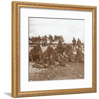 Rest stop, Champagne, northern France, c1914-c1918-Unknown-Framed Photographic Print