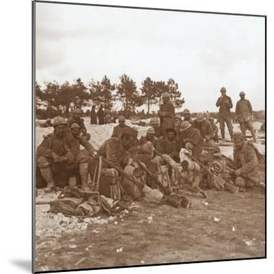 Rest stop, Champagne, northern France, c1914-c1918-Unknown-Mounted Photographic Print