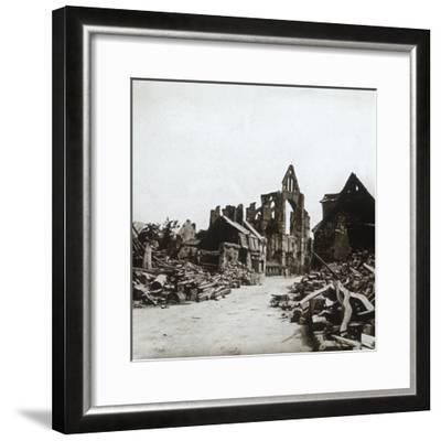 Ruins, Craonne, northern France, c1914-c1918-Unknown-Framed Photographic Print