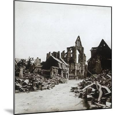 Ruins, Craonne, northern France, c1914-c1918-Unknown-Mounted Photographic Print