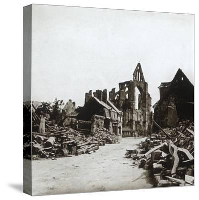 Ruins, Craonne, northern France, c1914-c1918-Unknown-Stretched Canvas Print
