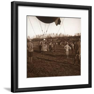 Basket of barrage balloon, c1914-c1918-Unknown-Framed Photographic Print