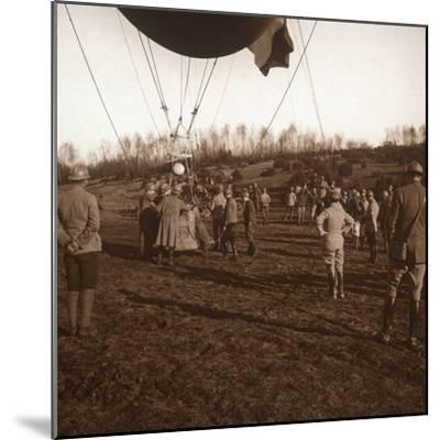 Basket of barrage balloon, c1914-c1918-Unknown-Mounted Photographic Print