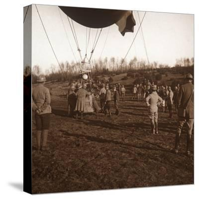Basket of barrage balloon, c1914-c1918-Unknown-Stretched Canvas Print