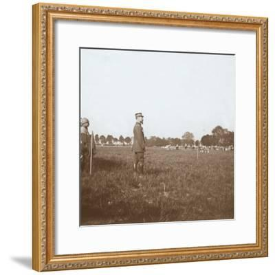 General Henri Gouraud, Chalons, Marne, northern France, c1914-c1918-Unknown-Framed Photographic Print