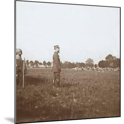 General Henri Gouraud, Chalons, Marne, northern France, c1914-c1918-Unknown-Mounted Photographic Print