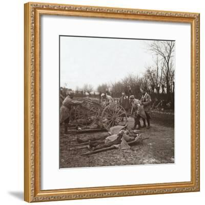 Bodies, Villers-au-Bois, northern France, c1914-c1918-Unknown-Framed Photographic Print