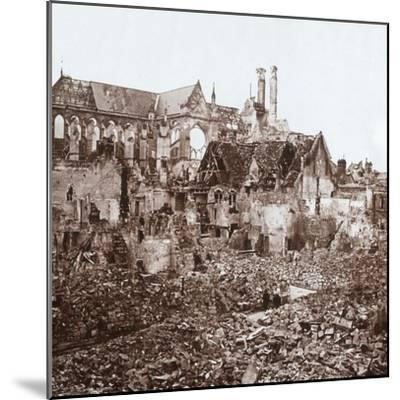 Soissons Cathedral, Soissons, northern France, c1914-c1918-Unknown-Mounted Photographic Print