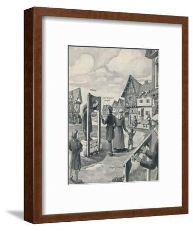 'Pillory and Stocks of the Middle Ages', c1934-Unknown-Framed Giclee Print