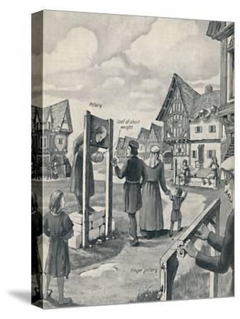 'Pillory and Stocks of the Middle Ages', c1934-Unknown-Stretched Canvas Print