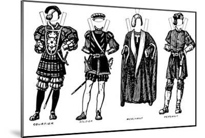 'The Great Gallery of British Costume: Dress Worn in Henry The Eighth's Time', c1934-Unknown-Mounted Giclee Print