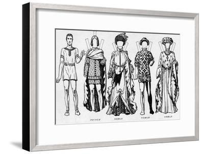 'The Gallery of Costume: Dresses Worn in the Last Years of Edward III's Reign', c1934-Unknown-Framed Giclee Print