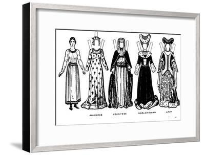 'Costumes of Men and Women as Worn in the Period When Henry V Reigned', c1934-Unknown-Framed Giclee Print