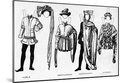 'Costumes of Men and Women as Worn in the Period When Henry V Reigned', c1934-Unknown-Mounted Giclee Print