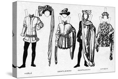 'Costumes of Men and Women as Worn in the Period When Henry V Reigned', c1934-Unknown-Stretched Canvas Print