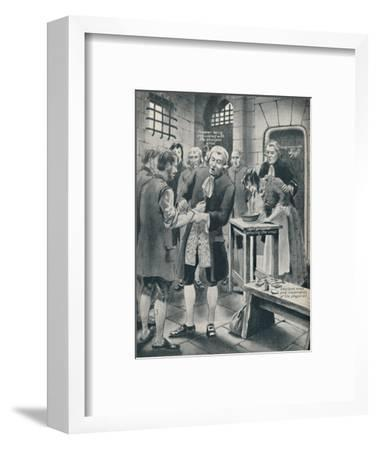 'Giving Prisoners the Smallpox in Gaol', late 18th century, (c1934)-Unknown-Framed Giclee Print