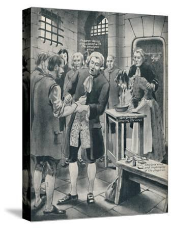 'Giving Prisoners the Smallpox in Gaol', late 18th century, (c1934)-Unknown-Stretched Canvas Print