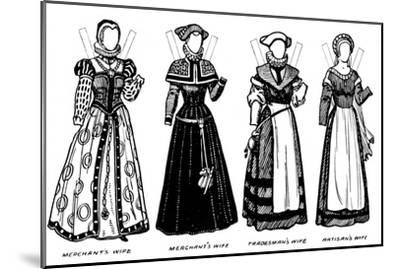 'The Gallery of Historic Costume: Some of the Dresses Worn in Elizabeth's Reign', c1934-Unknown-Mounted Giclee Print
