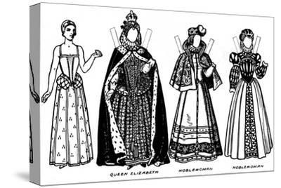 'The Gallery of Historic Costume: Some of the Dresses Worn in Elizabeth's Reign', c1934-Unknown-Stretched Canvas Print
