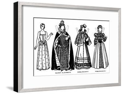 'The Gallery of Historic Costume: Some of the Dresses Worn in Elizabeth's Reign', c1934-Unknown-Framed Giclee Print