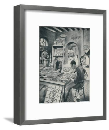 'Making A Stained Glass Window', c1934-Unknown-Framed Giclee Print