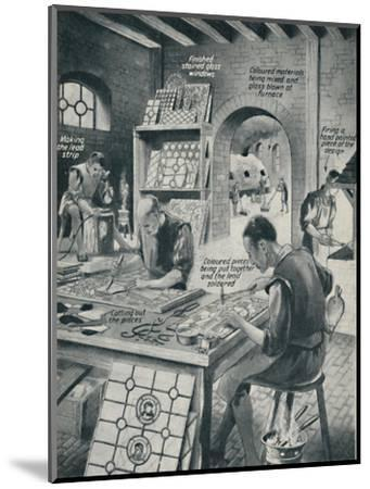 'Making A Stained Glass Window', c1934-Unknown-Mounted Giclee Print
