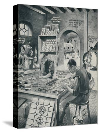 'Making A Stained Glass Window', c1934-Unknown-Stretched Canvas Print