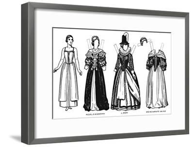 'The Great Gallery of Historic Costume: Dress Worn in James The First's Reign', c1934-Unknown-Framed Giclee Print