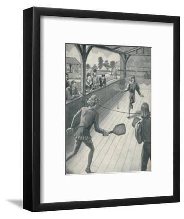 'Tennis in the Days of the Tudors', c1934-Unknown-Framed Giclee Print