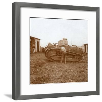 Tank maintenance, c1914-c1918-Unknown-Framed Photographic Print