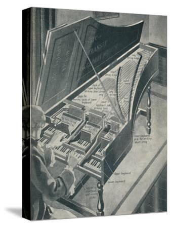 'How Handel's Harpischord Worked', c1934-Unknown-Stretched Canvas Print