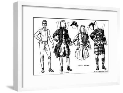 'Gallery of Historic Costume: What People Wore in Early Georgian Days', c1934-Unknown-Framed Giclee Print