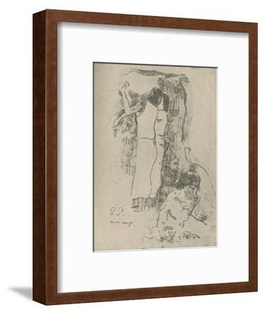 'Eating', 1936-Paul Gauguin-Framed Giclee Print