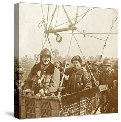 Men in observation balloon basket, c1914-c1918-Unknown-Stretched Canvas Print